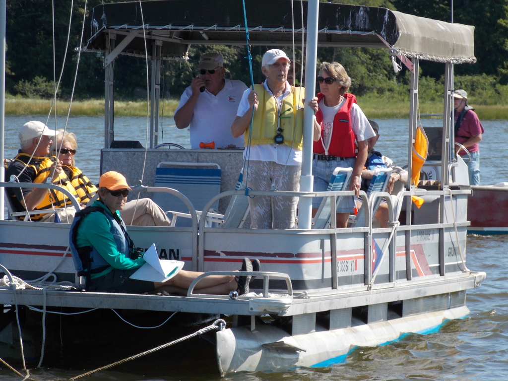 Photo of OYC Committee Boat.